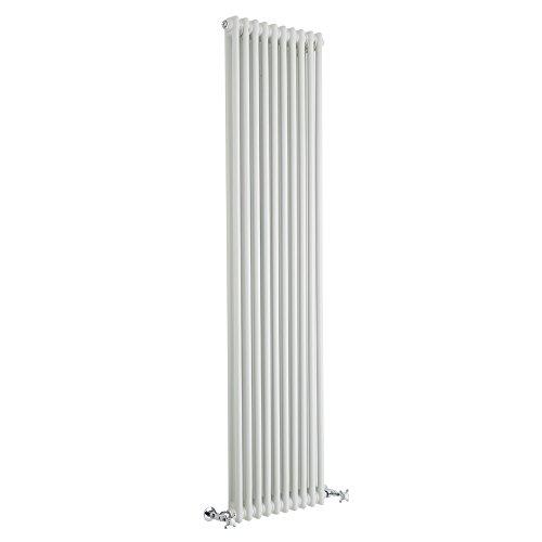 Hudson Reed Regent - Gliederheizkörper Vertikal 2 Säulen Nostalgie Weiß 1800mm x 470mm 1556W