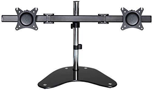 LIUCHUNYANSH TV Soporte de Suelo Ajustable de Soporte de Escritorio del Ordenador LCD de Doble Pantalla de la Percha Base de la Pantalla Rotary Lift