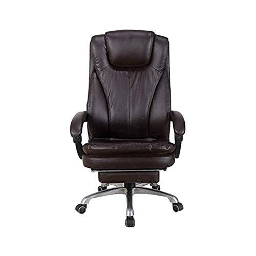 Drehbarer Arbeitsstuhl Liegestuhl Bürostuhl mit bequemer Fußstütze Kopfstütze Ergonomischer Executive Chair Gepolstert