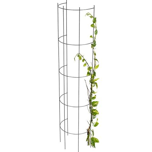 KADAX Ranksäule aus Stahl, Rankgitter, Rankhilfe, Säule, Kletterpflanzen, Rankturm, Kletterhilfe, Gitter, Pflanzehalter, Gitterspalier,...
