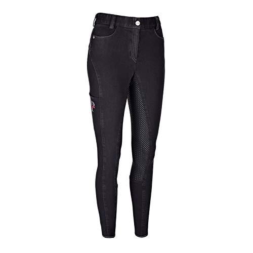 Pikeur rijbroek Tesia Grip Jeans Fullgrip | Kleur: Zwart | Maat: 34