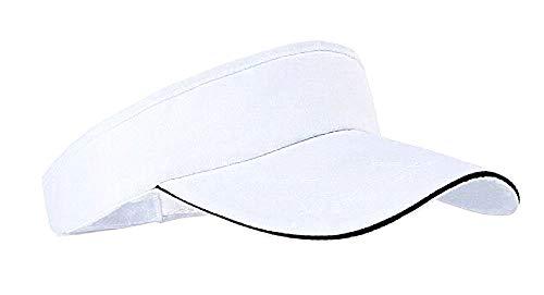 Verstelbaar tennisvizier - vrouw - hoed - honkbal - man - man - sport - golf - origineel cadeau-idee - hardlopen - wit