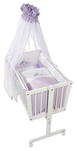 Easy Baby - Cuna completa, color blanco y morado