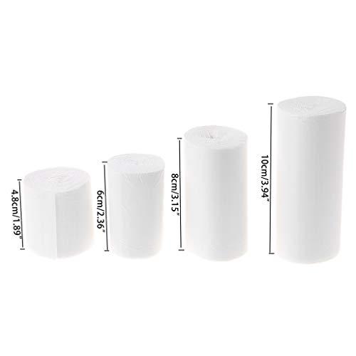 XTYaa vendaje elástico 10 rollos – Kit de primeros auxilios de gasa para enfermería médica de atención de emergencia – varios tamaños para que usted elija