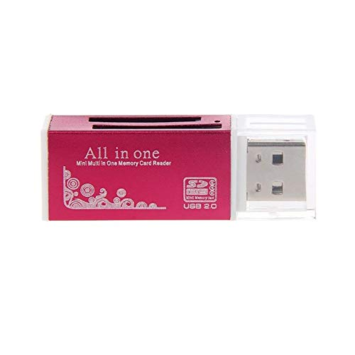 NAttnJf Mini Fast Speed USB 2.0 Multi Memory Card Reader for SD/SDHC MMC TF MS M2 red