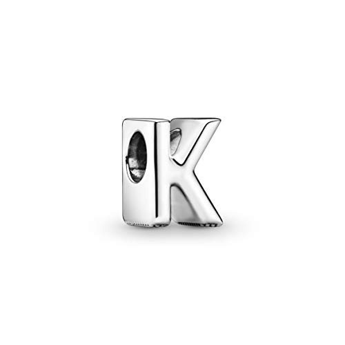 Pandora Women's Moments Letter K Alphabet Charm Sterling Silver 797465