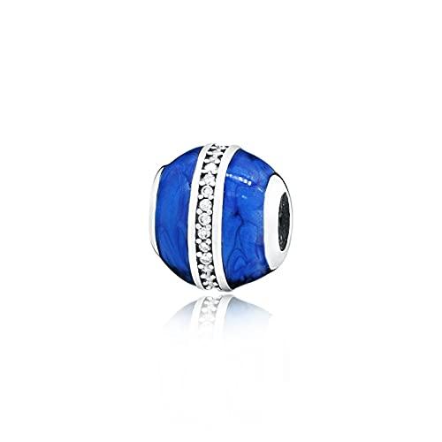 Pandora 925 colgantes de plata esterlina Diy nuevas cuentas de noche azules se ajustan a pulseras de dijes originales regalo de joyería de cumpleaños femenino