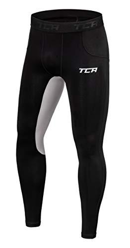 TCA Uomo SuperThermal Compression Base Layer Calzamaglia Termica - Black/Cool Grey (Nero/Grigio), M Uomo