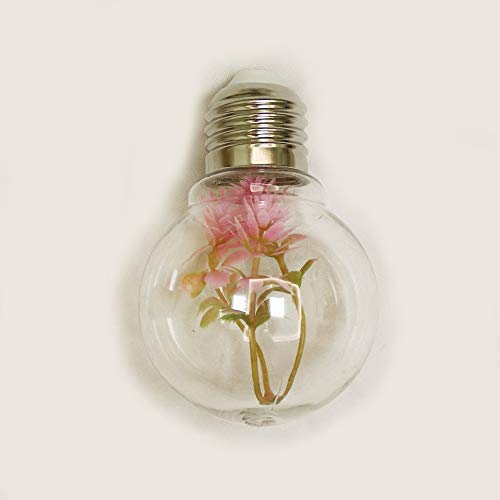 weichuang Luces de decoración de fiesta, 2 m, para decoración de plantas, cadena de luces LED, funciona con pilas, para fiestas de Navidad, dormitorio (color emisor: bombilla de bola), color rosa