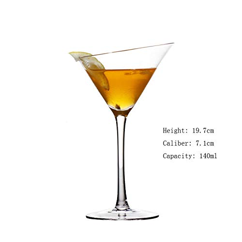 Coolter Set da 3 pezzi Bicchieri Da coppa Cocktail Martini grande In Bicchiere In Vetro Martini In Cristallo Buona Qualità Occhiali Margarita Di Grand