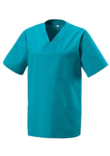 Schlupfkasack Kasack Schlupfjacke Schlupfhemd für Medizin und Pflege OP-Kleidung Türkis Gr. XL