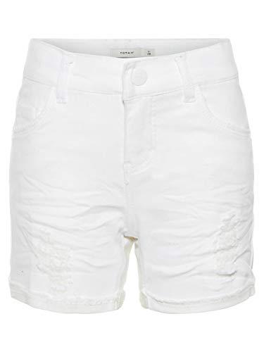 NAME IT NAME IT Mädchen NKFSALLI DNMTHYRA 8001 NOOS Shorts, Weiß (White Denim), 98