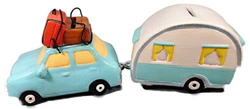 Wilhahn GWH 16901 - Juego de 2 huchas con forma de coche y caravana (29 x 10 cm)