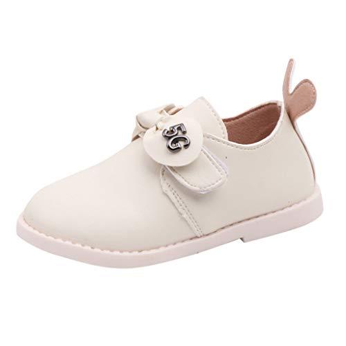 AIniModa OtoñO Invierno Chicas Short Boot Princess ShoesZapatos Lisos Antideslizantes para BebéS Y NiñOs PequeñOs para BebéS Bowknot 15 Meses-6 AñOs Blanco Rosa Negro