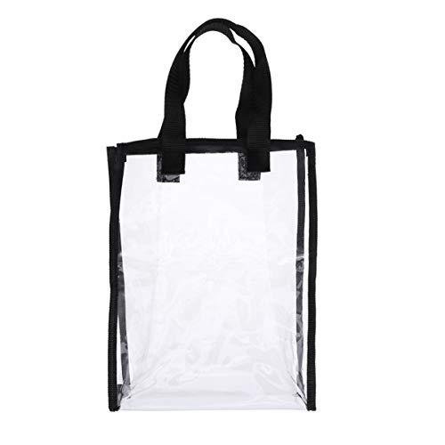 YARNOW 1 Stück Durchsichtige Einkaufstasche mit Schultergurt Durchsichtige Tasche mit Durchsichtiger Tasche Ideal für Sportspiele Arbeit Sicherheitsreisen Stadionveranstaltungen Oder