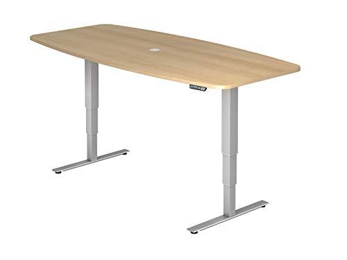 bümö® ergonomischer Konferenztisch elektrisch höhenverstellbar | elektrischer Besprechnungstisch | höhenverstellbarer Meetingtisch mit...