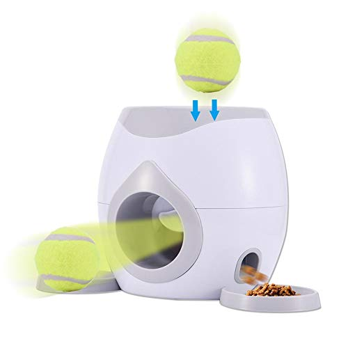Dog Feeder, Dog Ball Toy - Interaktive Tennisball-Wurfmaschine für Hunde