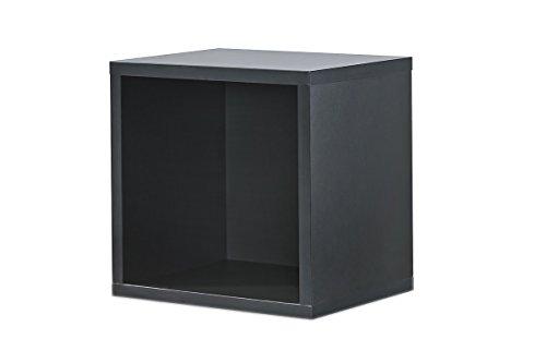 Regal schwarz, Regalwürfel, Cube schwarz, Click System: Keine Schrauben und Dübel