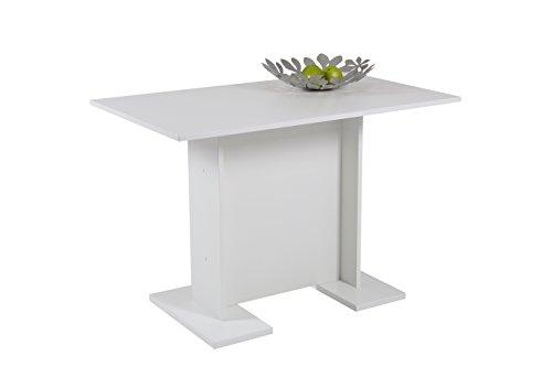 Esstisch Ines III, Holzwerkstoff Dekor Weiß, 108x68x75 cm