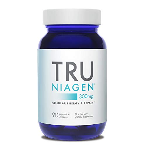 TRU NIAGEN NAD+ Booster for Cellular Repair & Energy Metabolism (Nicotinamide Riboside) - 300mg Vegetarian Capsules, 300mg Per Serving - 90 Day Bottle
