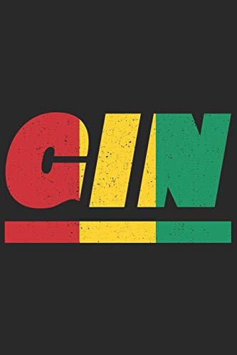 GIN: Guinea Tagesplaner mit 120 Seiten in weiß. Organizer auch als Terminkalender, Kalender oder Planer mit der guineanischen Flagge verwendbar