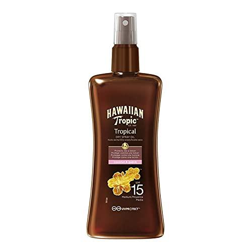Hawaiian Tropic Protective Dry Spray Oil Sonnenöl LSF 15, 200 ml, 1 St