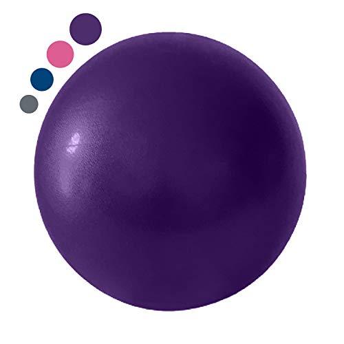 Swissball - Pelota de fitness pequeña de 25 cm, para entrenamiento, ejercicio, gimnasio, pilates, yoga, crossfit, médica, suave, rebote y rehabilitación inflable (morado)