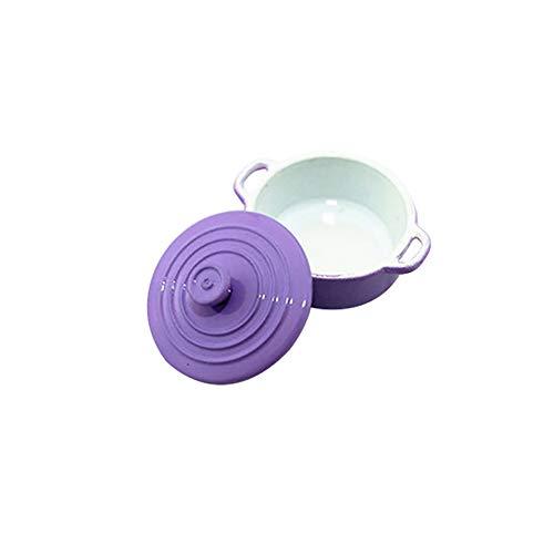 collectsound Fashion Miniatur Candy Color Suppentopf Puppenhaus Zubehör Geschenk Sauce Pfanne Spielzeug, violett, Einheitsgröße