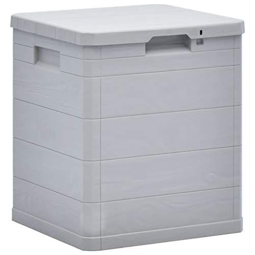 Tidyard Garten-Aufbewahrungsbox 90 L für den Garten, kle Garten wetterfeste Outdoor-Aufbewahrungsbox Kunststoff 42,5 x 44 x 50 cm (L x B x H),Hellgrau