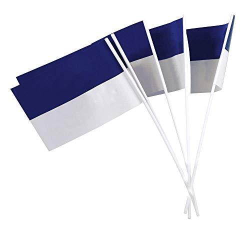 Deitert Papierfähnchen (regenfest), blau-weiß, 50 Stück, für Party-Deko oder Straßenfest