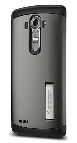 Spigen Slim Armor LG G4 Case with Air Cushion Technology and Hybrid Drop Protection for LG G4 2015 - Gunmetal