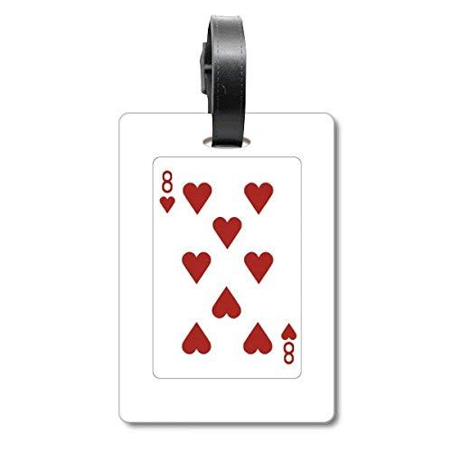 Etiqueta de identificación para Maleta de Crucero con diseño de corazón y 8 Cartas de Juego