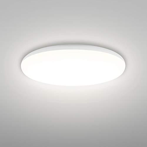 Linkind 18W Deckenlampe, 1600lm Neutralweiß Deckenleuchte, IP44 Wasserfest Badlampe, Ø25cm 4000K LED Lampen, ideal für Badezimmer Balkon Flur Küche Wohnzimmer, Badezimmer