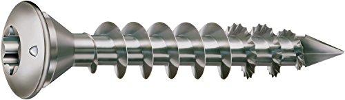 SPAX - Pfostenschraube, 8,0 x 50 mm, 50 Stück, Zentrierkopf, T-STAR plus, CUT, Vollgewinde, Edelstahl rostfrei A1, 1.4016 - 35708000601001