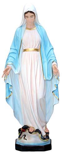 Generische Statue Madonna Miracolosa aus GFK cm. 120 mit Glasaugen