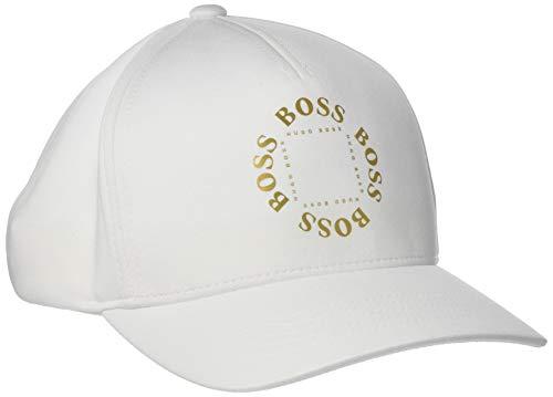 BOSS Herren Circle Baseball Cap, Weiß (White 100), One Size (Herstellergröße: ONESI)