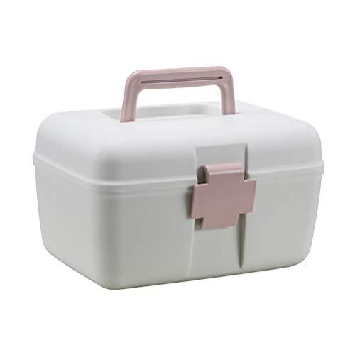 Fovely Erste-Hilfe-Kit 2-lagige Medizinbox Tragbare Notfall-Medizinbox für das Home Office