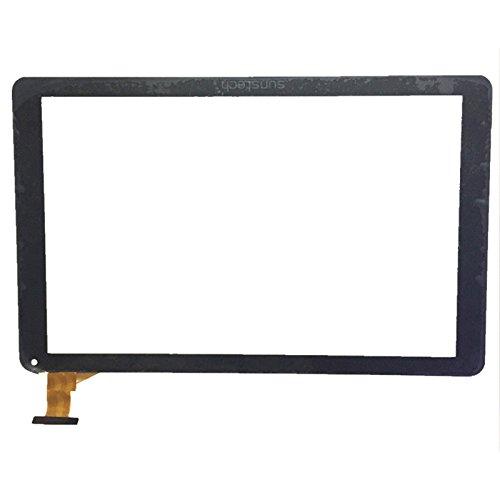 Negro Color EUTOPING  De Nuevo 10.1 Pulgadas Pantalla tactil Digital La sustitución de para Sunstech TAB109QC