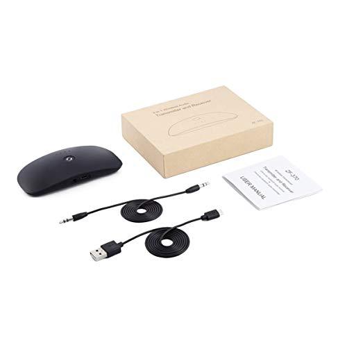 Tree-es-Life Transmisor/Receptor de Audio Portátil 2 en 1 Adaptador de Audio inalámbrico de 3,5 mm para el hogar Auriculares de Coche Altavoces TV