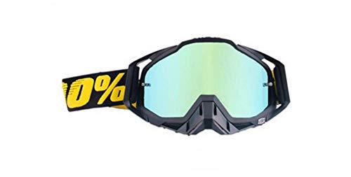 Carolilly, Occhiali da Motocross, Occhiali da Sci da Moto, Occhiali da Snowboard, Occhiali da Uomo e Donna, con Anti-Appannamento, Anti-Vento, Isolamento Antipolvere