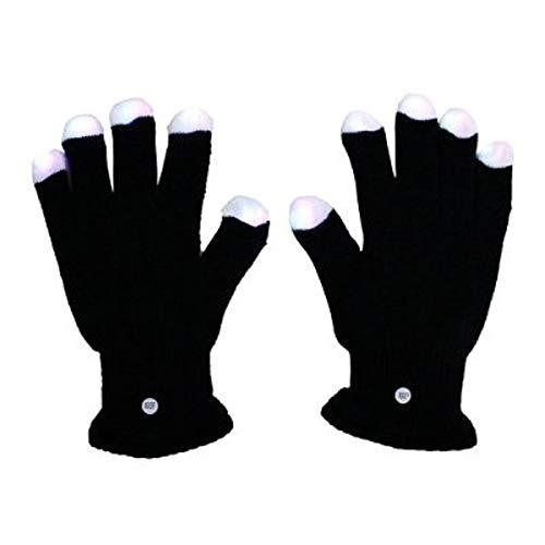 Blouson Noir Taille Enfant avec LED Multi Couleur, clignotement des Doigts (FL18)