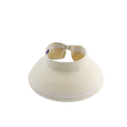 Sombrero Viseras Mujer Verano de Paja Vacío con ala Grande Gorra Pamela de Sol Playa Viaje...