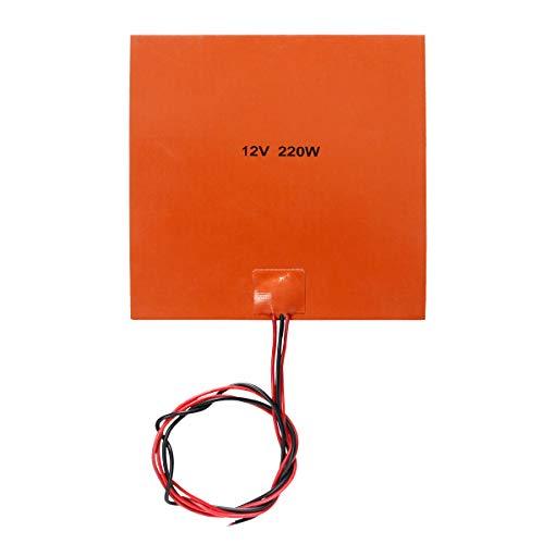 Signswise 200x200mm Silikon Gummi Heizbett Heated Bed für 3D-Drucker (12V 220W)