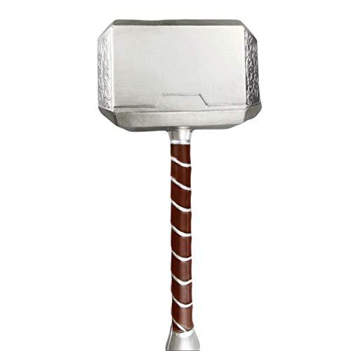 Halloween Cosplay Foam Toll Hammer Cosplay Thunder Hammer Birthday Gift (17 Inches) Hammer Head...