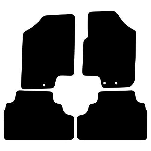 Carsio Tapis de Voiture sur Mesure Noir pour Venga 2010 à 2015 - 4 pièces avec 3 Clips