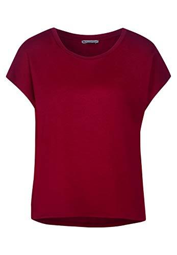 Street One Damen 315027 Kurzarmshirt T-Shirt, Sweet Wine, 46