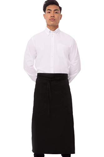 Chef Works unisex adult Two Pocket Bistro Apron apparel accessories, Black, One Size US