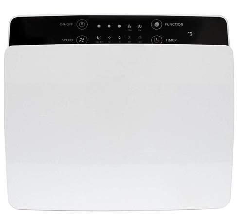 CLEANLINE Purificador de aire – montaje en pared, nanoplata, iones negativos, filtro HEPA, filtro de carbón activado, lámpara UV-C, mando a distancia