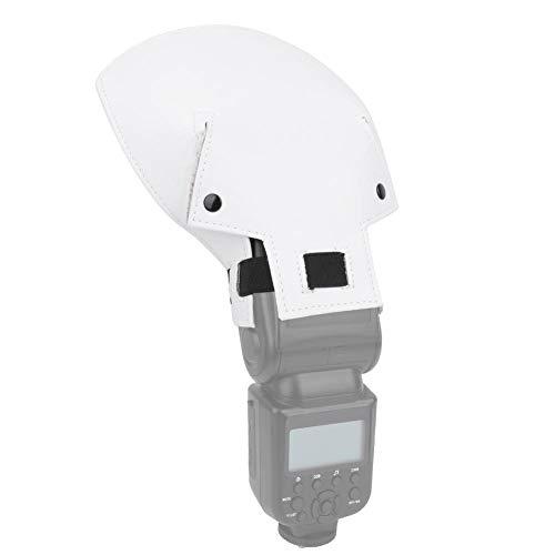 フラッシュディフューザー ポータブルユニバーサル カメラフラッシュライト用 PU素材 クリップオンストロボ用 フレキシブルリフレクター スピードライトソフトボックス アーク形状