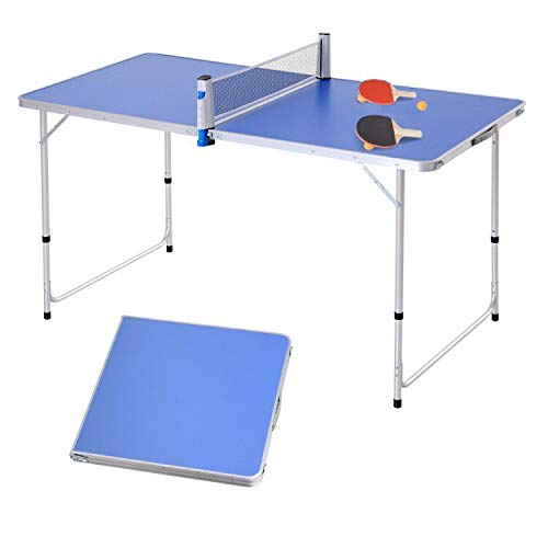 Outsunny Table de ping Pong Camping 2 en 1 - Table Pliante - Hauteur...